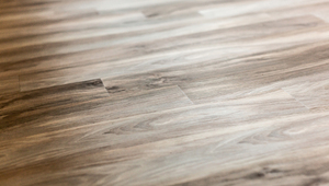 Natural wood-style flooring in warm tones