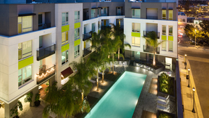 Resort-style pool, sun deck and spa with poolside bar and social lounge with WiFi access throughout amenity areas