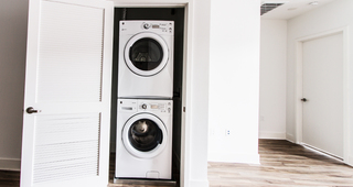 Full size front-loading washer and dryer